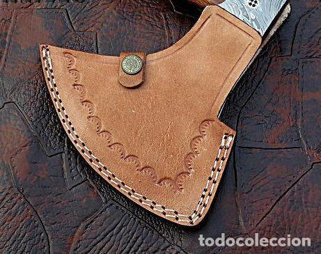 Militaria: hacha en acero de damasco artesanal. 49 cm largo - Foto 4 - 163529586