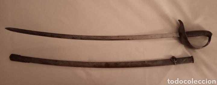 Militaria: Espada Sable oficial de infantería modelo 1887 Militar Hoja grabada en Toledo ARTA FABA 1889 - Foto 4 - 163731128