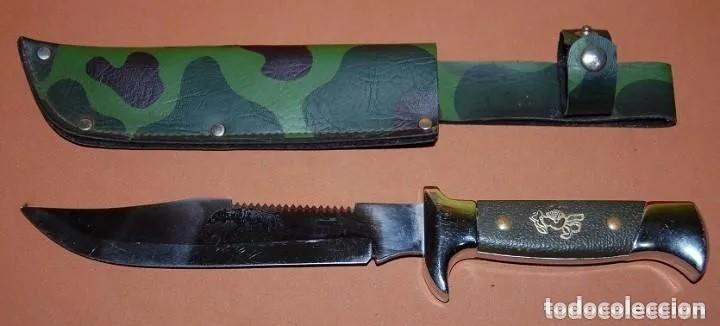 MACHETE/CUCHILLO PARA CAZA PESCA (Militar - Armas Blancas Originales de Fabricación Posterior a 1945)