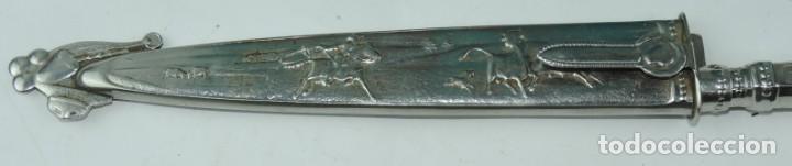 Militaria: Cuchillo tipo Facón argentino de alpaca. Mide 32 pag. con su vaina puesta, no tiene marca de fabrica - Foto 3 - 165457530