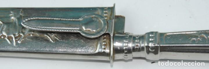 Militaria: Cuchillo tipo Facón argentino de alpaca. Mide 32 pag. con su vaina puesta, no tiene marca de fabrica - Foto 4 - 165457530