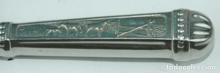Militaria: Cuchillo tipo Facón argentino de alpaca. Mide 32 pag. con su vaina puesta, no tiene marca de fabrica - Foto 5 - 165457530