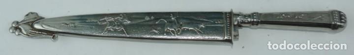 Militaria: Cuchillo tipo Facón argentino de alpaca. Mide 32 pag. con su vaina puesta, no tiene marca de fabrica - Foto 6 - 165457530