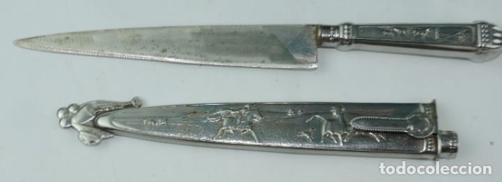 Militaria: Cuchillo tipo Facón argentino de alpaca. Mide 32 pag. con su vaina puesta, no tiene marca de fabrica - Foto 10 - 165457530