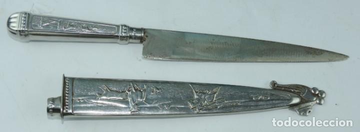 Militaria: Cuchillo tipo Facón argentino de alpaca. Mide 32 pag. con su vaina puesta, no tiene marca de fabrica - Foto 11 - 165457530