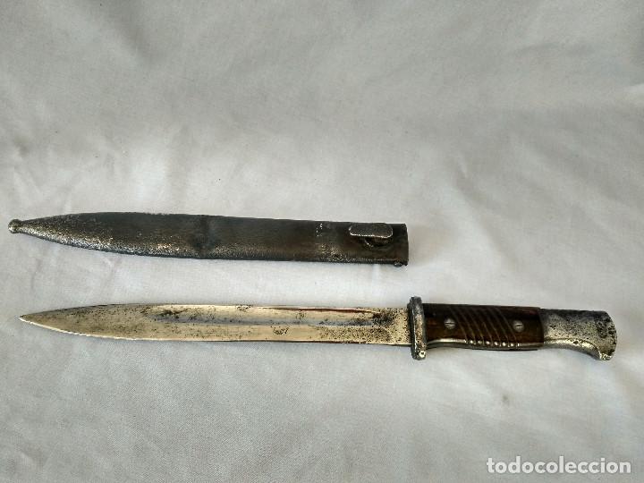 ALEMANIA - WWII - BAYONETA PARA MAUSER K98 - MARCAJE WKC - 2º MODELO (Militar - Armas Blancas Originales Fabricadas entre 1851 y 1945)