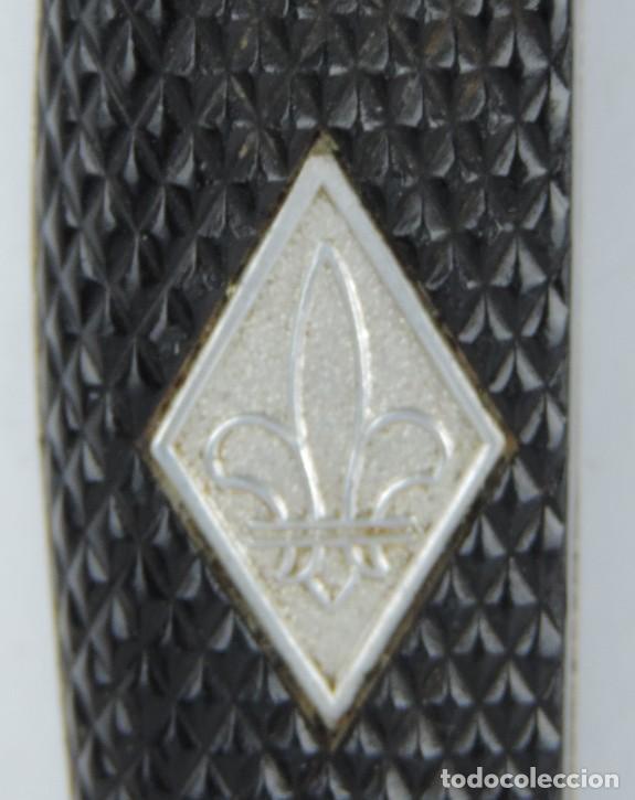 Militaria: Cuchillo Boy Scout marca Othelo de Anton Wingen Jr. Solingen, con Flor de Lis en el puño. Hoja en ac - Foto 12 - 166982712