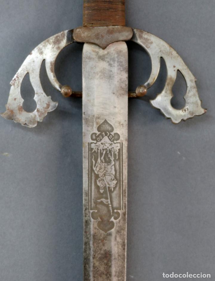 Militaria: Espada reproducción de la Tizona de El Cid Campeador en hierro años 60 - Foto 3 - 168076804