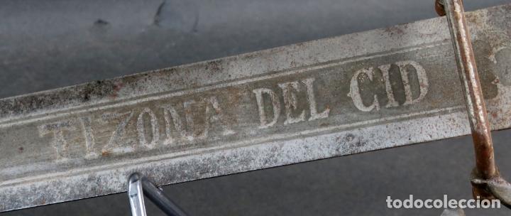 Militaria: Espada reproducción de la Tizona de El Cid Campeador en hierro años 60 - Foto 12 - 168076804