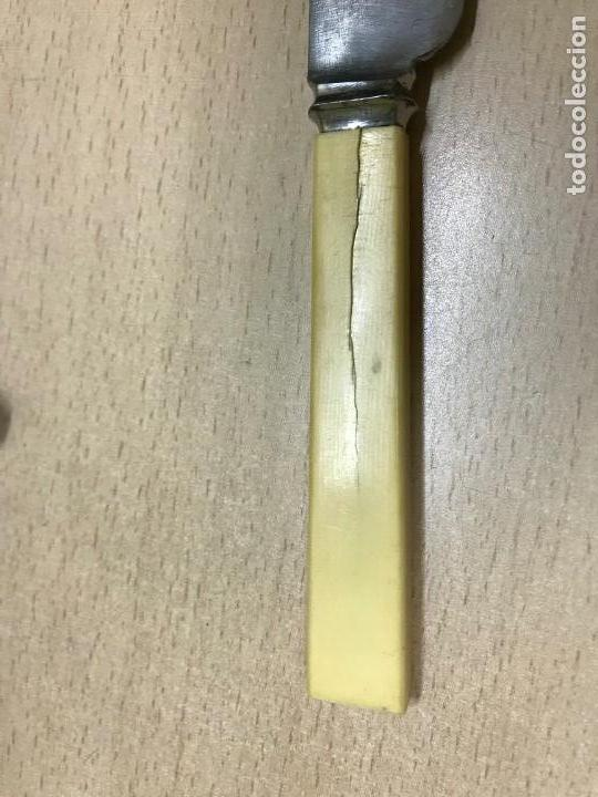 Militaria: Antiguo Cuchillo MARSH BROTHERS & CO, SHEFFIELD, V R, old knife, el cuchillo esta sin limpiar, mang - Foto 10 - 33507564