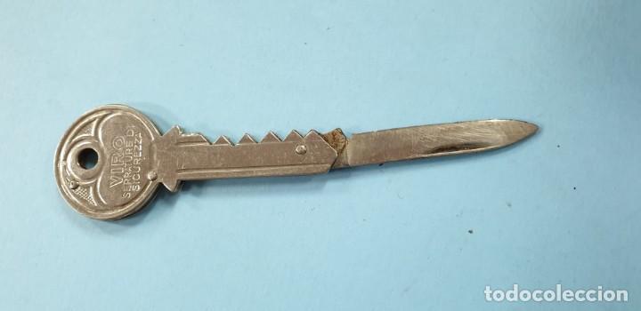 LLAVE NAVAJA MARCA VIRO (Militar - Armas Blancas Originales Fabricadas entre 1851 y 1945)