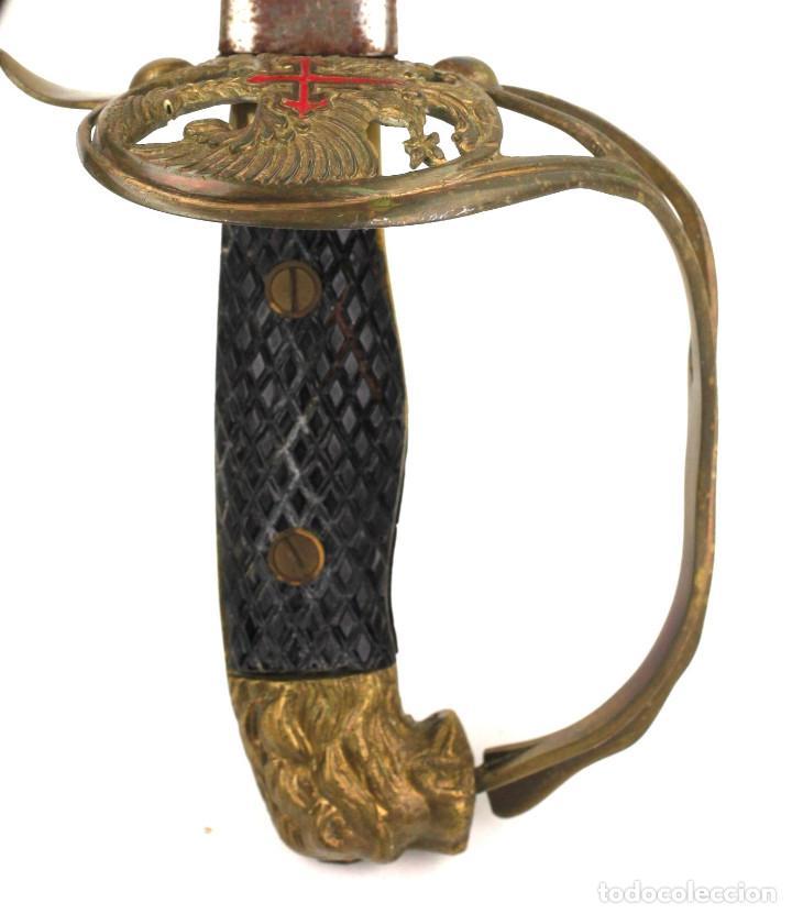 ESPADA MILITAR DE TOLEDO, CON FUNDA. 96 CM. DE LARGO TOTAL. VER FOTOS ANEXAS (Militar - Armas Blancas Originales Fabricadas entre 1851 y 1945)