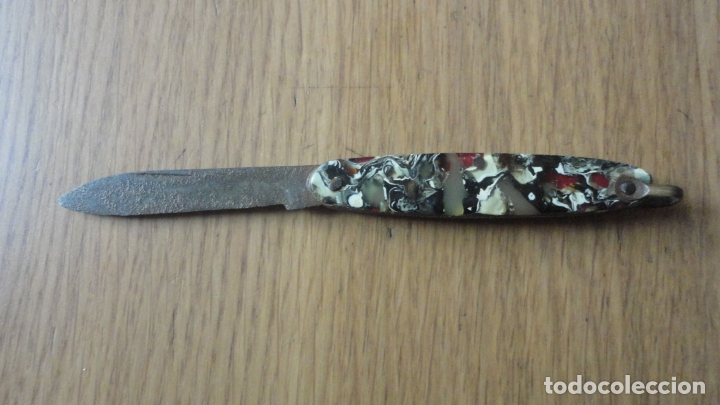 ANTIGUA NAVAJA DE BOLSILLO SIGLO XX (Militar - Armas Blancas Originales Fabricadas entre 1851 y 1945)