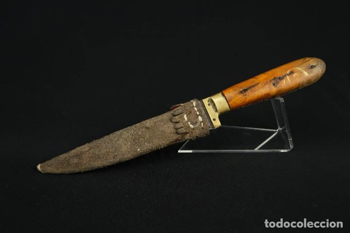 Militaria: Antiguo cuchillo de sastago Siglo XIX - Foto 3 - 170549100