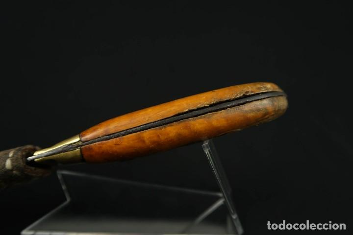 Militaria: Antiguo cuchillo de sastago Siglo XIX - Foto 4 - 170549100