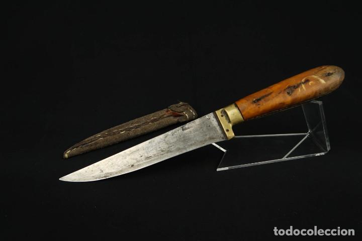 Militaria: Antiguo cuchillo de sastago Siglo XIX - Foto 6 - 170549100