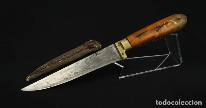 Militaria: Antiguo cuchillo de sastago Siglo XIX - Foto 9 - 170549100