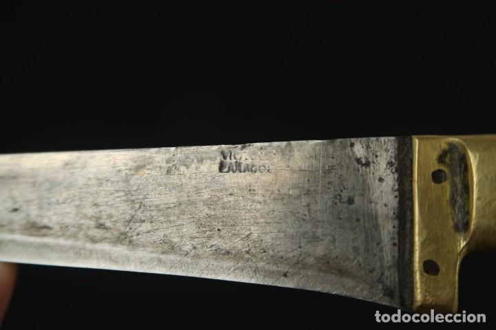 Militaria: Antiguo cuchillo de sastago Siglo XIX - Foto 11 - 170549100
