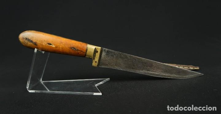 Militaria: Antiguo cuchillo de sastago Siglo XIX - Foto 12 - 170549100
