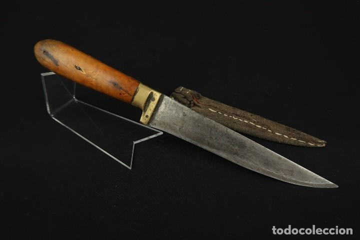 Militaria: Antiguo cuchillo de sastago Siglo XIX - Foto 13 - 170549100