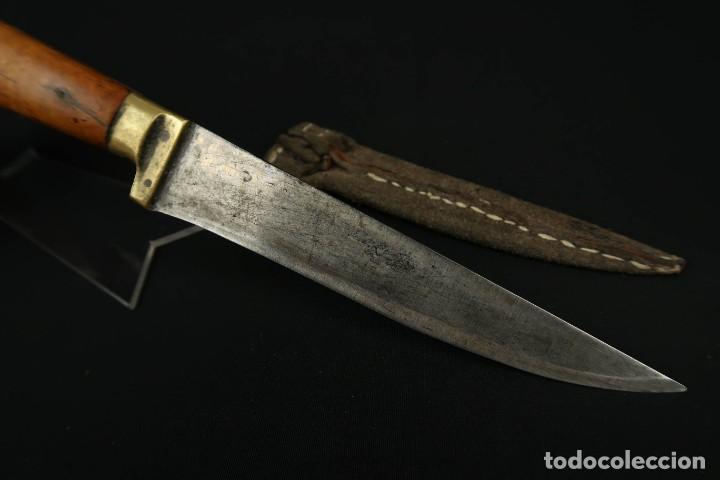 Militaria: Antiguo cuchillo de sastago Siglo XIX - Foto 14 - 170549100