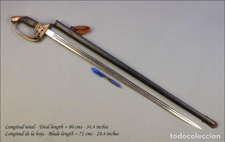 Militaria: Espada o Sable de Oficial de Infantería Prusiano. Modelo 1889. Alemania circa 1900 - Foto 11 - 171509374