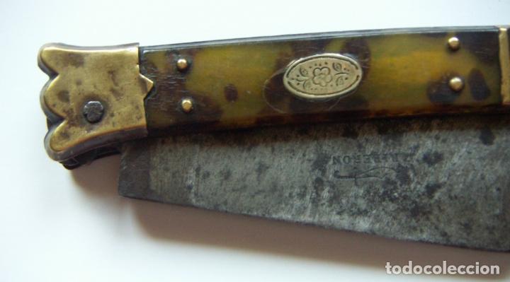 Militaria: Vieja navaja Bandoleros marca RIBERON 40,5 cm abierta y 22,5 cm cerrada - Foto 6 - 171845349