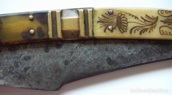 Militaria: Vieja navaja Bandoleros marca RIBERON 40,5 cm abierta y 22,5 cm cerrada - Foto 7 - 171845349