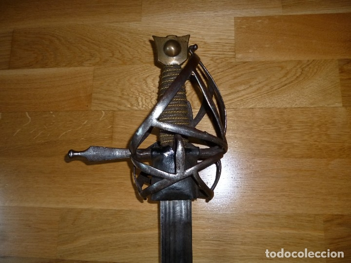 Militaria: Espada Schiavona siglo XVII no sable no daga - Foto 4 - 175675885