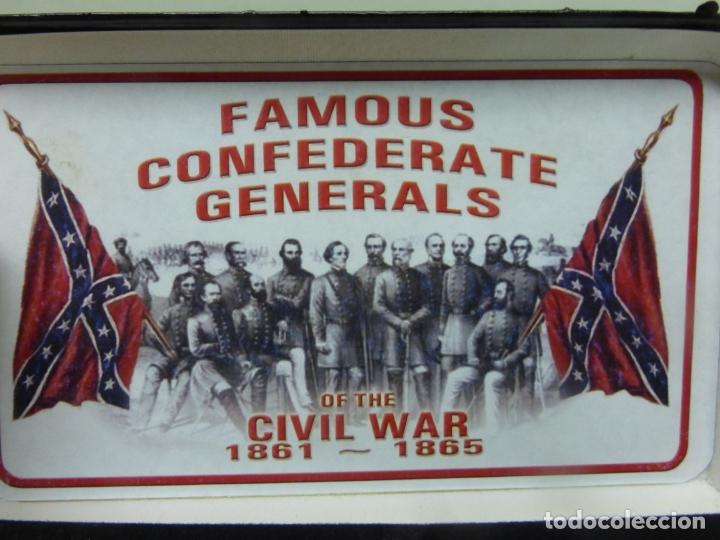 Militaria: Case FGRPB Famous Confederate Generals Folding Knife with Red Pick Bone Handle - NAVAJA CONFEDERADA- - Foto 5 - 175702225