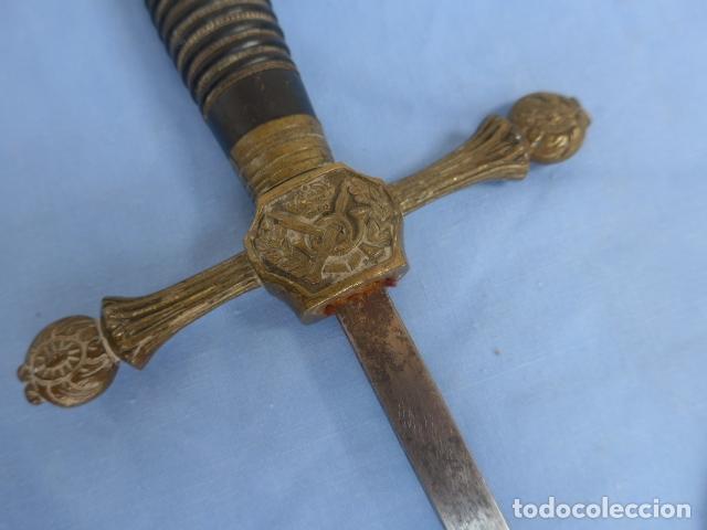 Militaria: * Antigua espada o espadin español de infanteria alfonsina, alfonso XIII, oriignal. ZX - Foto 2 - 175940272