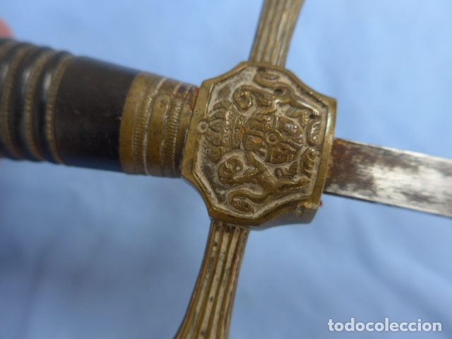 Militaria: * Antigua espada o espadin español de infanteria alfonsina, alfonso XIII, oriignal. ZX - Foto 10 - 175940272