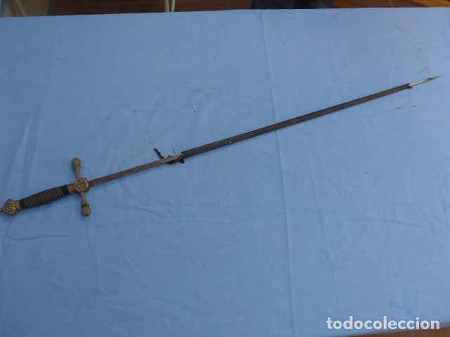 Militaria: * Antigua espada o espadin español de infanteria alfonsina, alfonso XIII, oriignal. ZX - Foto 13 - 175940272
