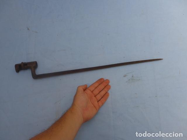 Militaria: * Antigua bayoneta de cubo de remington, original, siglo XIX. ZX - Foto 2 - 176623202