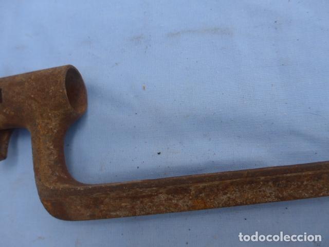 Militaria: * Antigua bayoneta de cubo de remington, original, siglo XIX. ZX - Foto 3 - 176623778