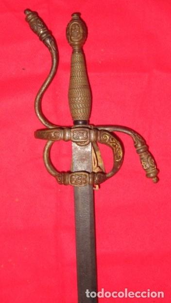 ESPADA DE LAZO (RAPIERA O ROPERA), SIGLO XVII - MEDIDAS HOJA: 85 CM. - NAT (Militar - Armas Blancas Originales de Fabricación Anterior a 1850)