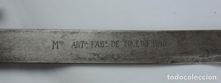 Militaria: SABLE DE INFANTERIA BRIQUET, MARCADA EN LA HOJA Mdo. ARTA. DE TOLEDO 1840. BUEN ESTADO DE CONSERVACI - Foto 3 - 176884262