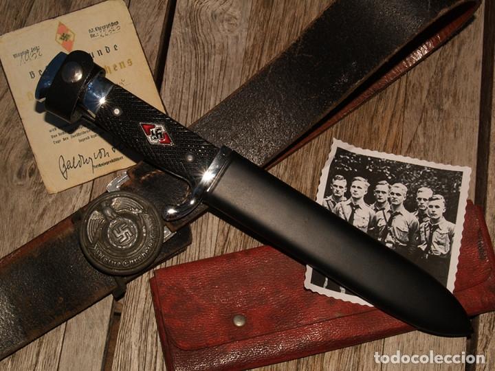 CUCHILLO JUVENTUDES HITLERIANAS (Militar - Armas Blancas Originales de Fabricación Posterior a 1945)