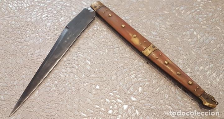 NAVAJA RIBERON SIGLO XIX (Militar - Armas Blancas Originales Fabricadas entre 1851 y 1945)