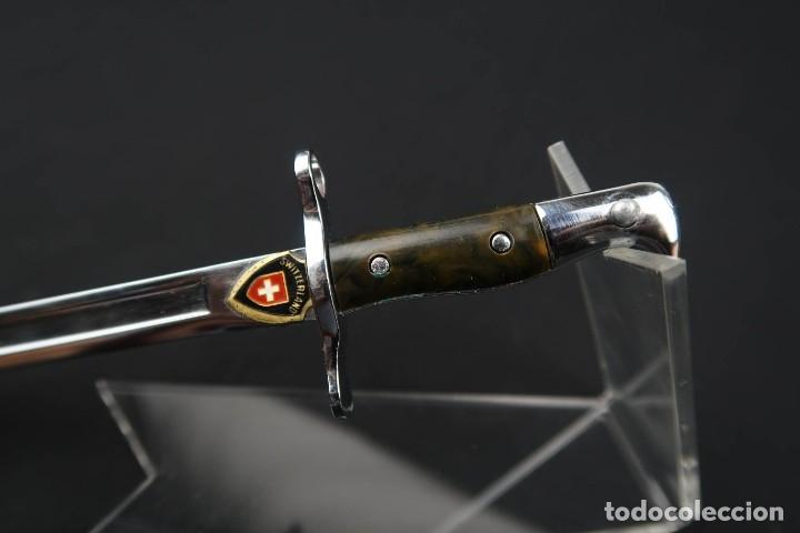 Militaria: Antigua miniatura de bayoneta Suiza - Foto 4 - 178970256