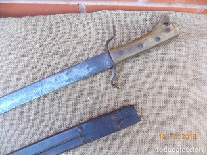 Militaria: Espada-Machete Guerra de Cuba - Foto 5 - 179048682