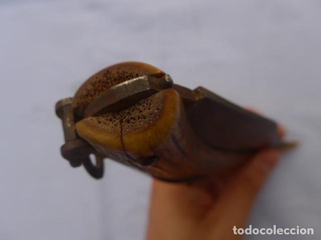 Militaria: * Antigua gran navaja española de cuerno, mide 36 cm abierta, original siglo XIX. ZX - Foto 13 - 179154946