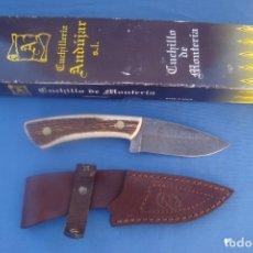 Militaria: CUCHILLO DE CAZA MARCA ANDUJAR MODELO 1392 DESOLLADOR -ACERO DAMASCO-. Lote 179224418