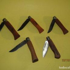 Militaria: LOTE DE 5 NAVAJAS OPINEL Y C.Q. DON BENITO - METAL Y MADERA. Lote 179536200