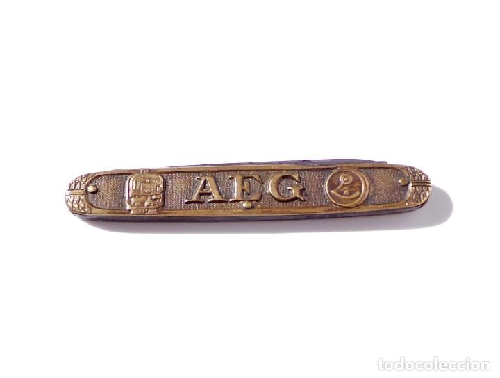 Militaria: NAVAJA PUBLICIDAD AEG. 8,5 CM CERRADA. - Foto 7 - 181461300