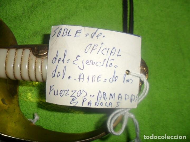 Militaria: sable de oficial del ejercito del aire de las fuerzas armadas españolas - Foto 25 - 182590613