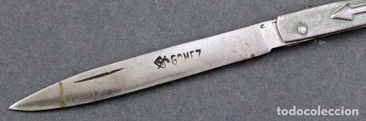 Militaria: Navaja Albacete acero marcado Gómez y metal con flecha - Foto 3 - 183169927