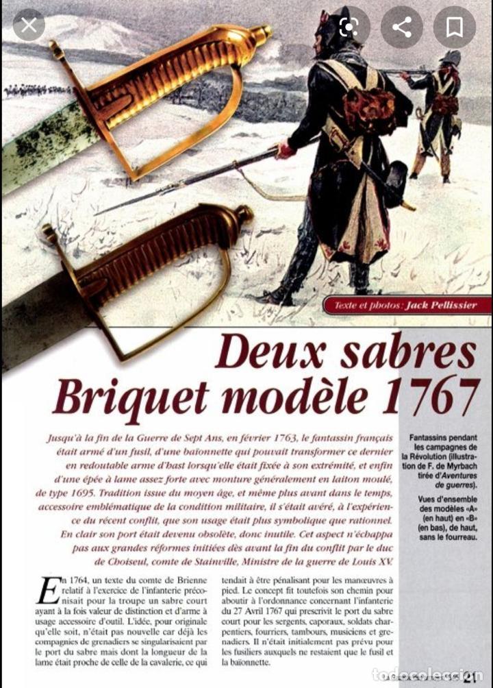 Militaria: Espada sable Briquet Granedier Francés 1767 - Foto 12 - 183429391