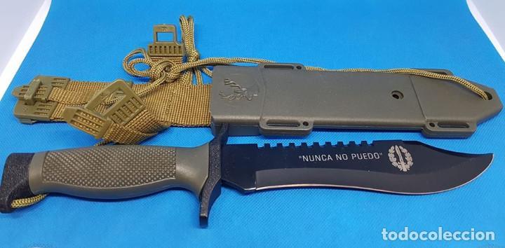 CUCHILLO OSO NEGRO ALBAINOX GRABADO (Militar - Armas Blancas, Reproducciones y Piezas Decorativas)