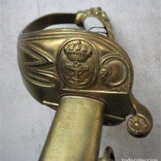 Militaria: SABLE DE LA ARMADA ESPAÑOLA, MARINA, 1874, COMPLETO CON VAINA. Lote 187165216
